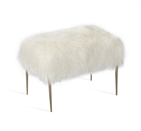 Stiletto Stool Ivory Sheepskin Design By Interlude Home