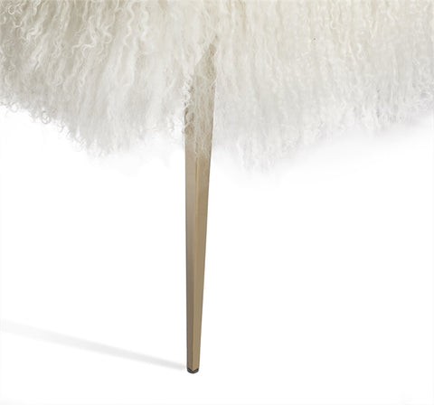 Stiletto Bench Ivory Sheepskin Design By Interlude Home