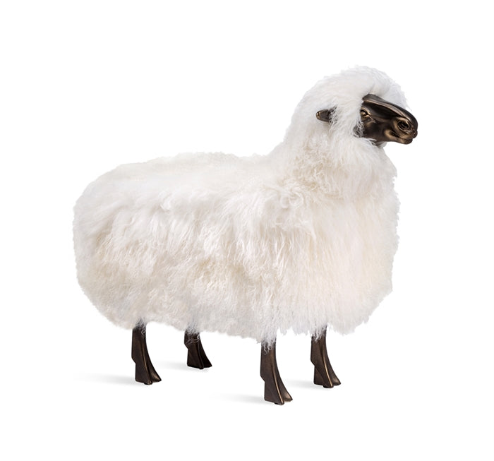 Phillippe Sheep Sculpture in Ivory design by Interlude Home