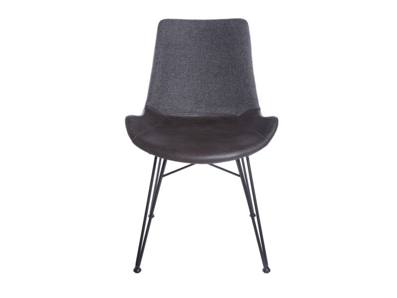 Set of Two Alisa Side Chairs in Dark Grey & Black design by Euro Style