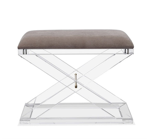 Asher Stool in Grey Velvet design by Interlude Home