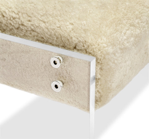 Aiden Shearling Bench Design By Interlude Home