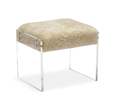 Aiden Shearling Stool Design By Interlude Home