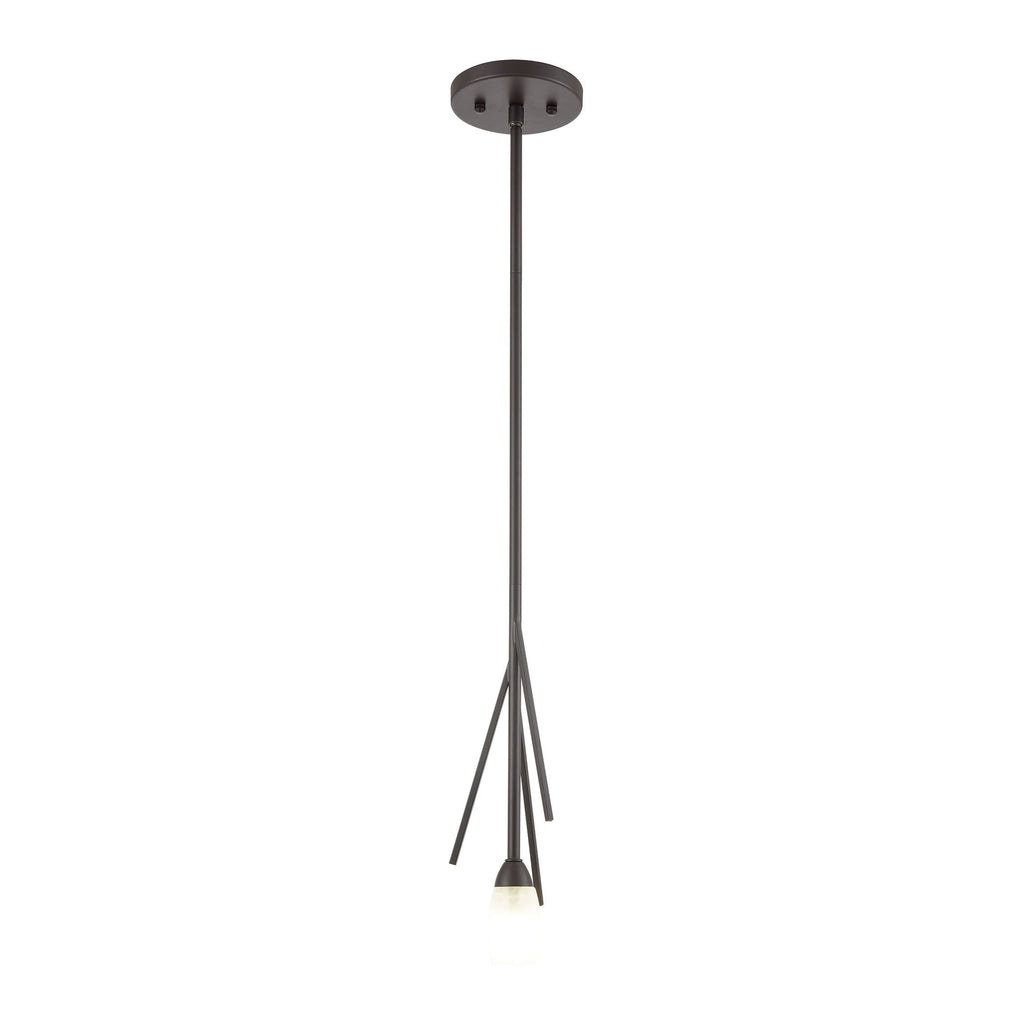 Ocotillo 1-Light Mini Pendant in Oil Rubbed Bronze with Frosted Glass by BD Fine Lighting