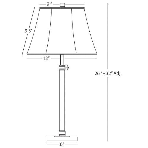 Bruno Collection Adjustable Column Table Lamp