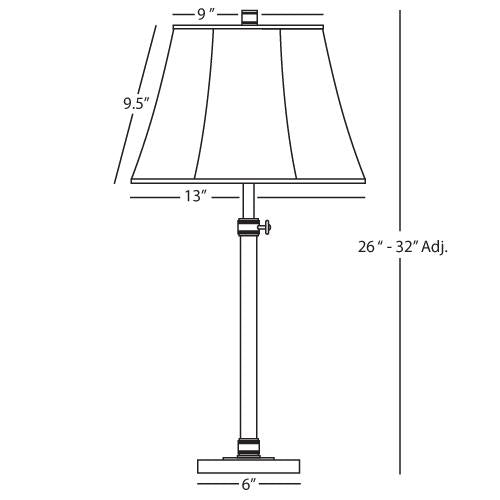 Bruno Adjustable Column Table Lamp by Robert Abbey