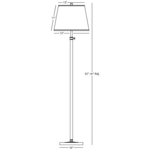 Bruno Collection Adjustable Club Floor Lamp design by Robert Abbey