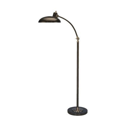 "Bruno Collection Adjustable ""C"" Arm Task Floor Lamp design by Robert Abbey"