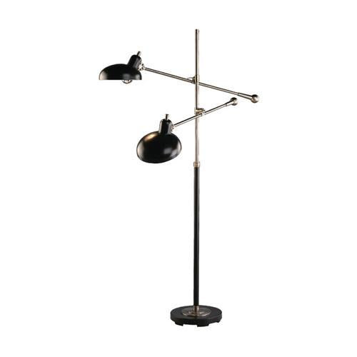 Bruno Collection Adjustable Double-Arm Pharmacy Floor Lamp by Robert Abbey