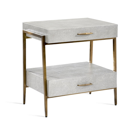 Morand Bedside Chest Grey Design By Interlude Home