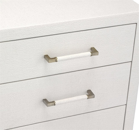 Taylor 5 Drawer Chest in White design by Interlude Home