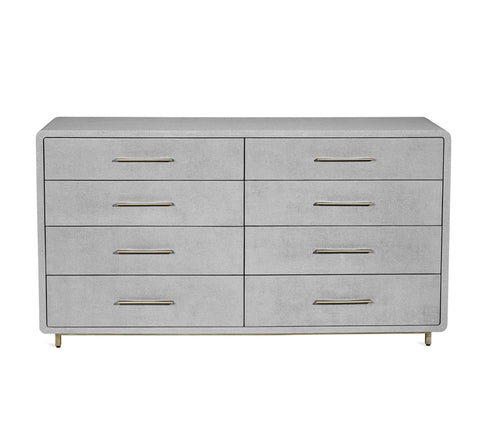 Alma 8 Drawer Chest in Light Grey design by Interlude Home