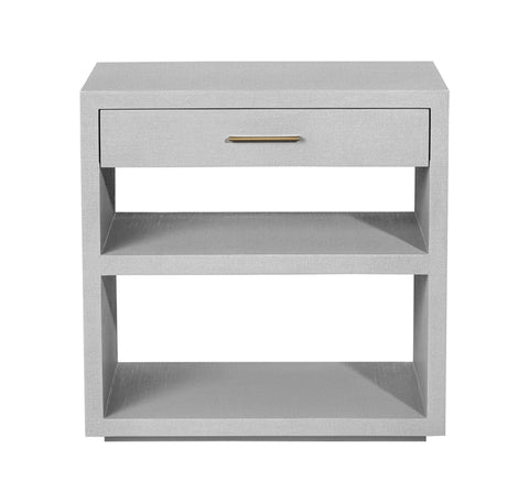 Livia Bedside Chest in Light Grey design by Interlude Home
