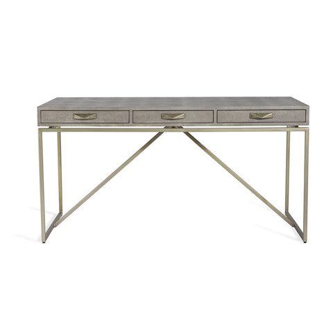 Atherton Shagreen Desk in Grey design by Interlude Home