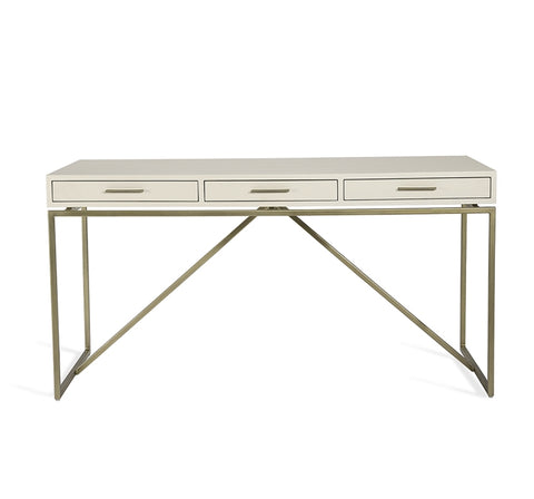 Emmet Snakeskin Desk in White design by Interlude Home