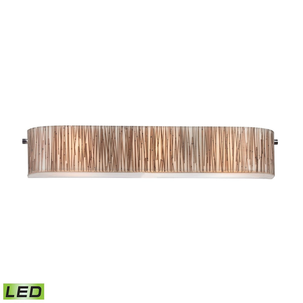 Modern Organics 3-Light Vanity Sconce in Chrome with Bamboo Stem Shade - Includes LED Bulbs by BD Fine Lighting