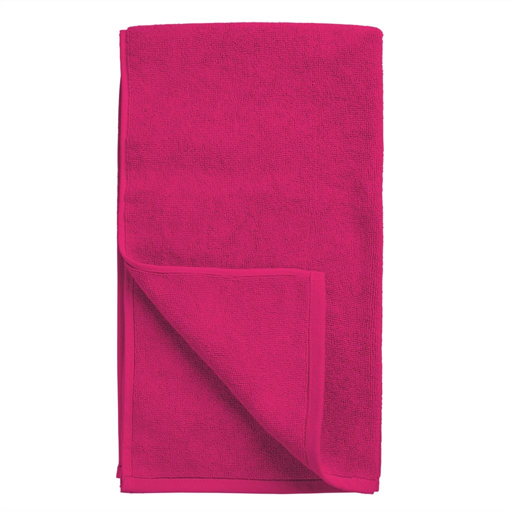 Coniston Fuchsia Bath Mat design by Designers Guild