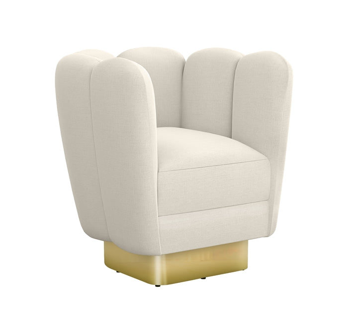 Gallery Brass Chair in Pearl