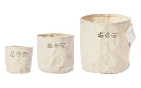 Canvas Pot Cover - Medium - Off White