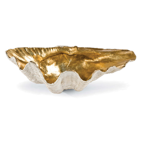 Golden Clam Bowl in Various Sizes design by Regina Andrew
