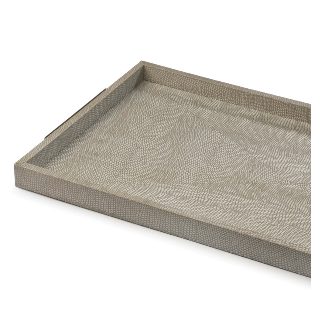 Rectangle Shagreen Boutique Tray in Various Colors