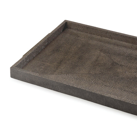 Rectangle Shagreen Boutique Tray in Various Colors design by Regina Andrew