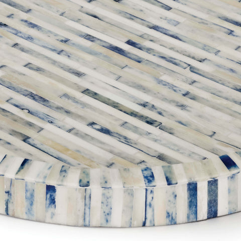 Bone & Indigo Tray Round design by Regina Andrew