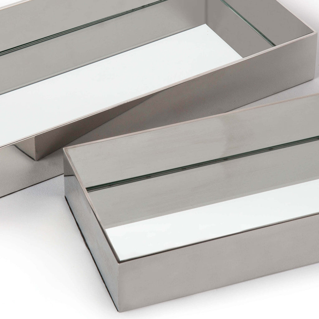 Rectangle Metal Tray Set in Various Colors