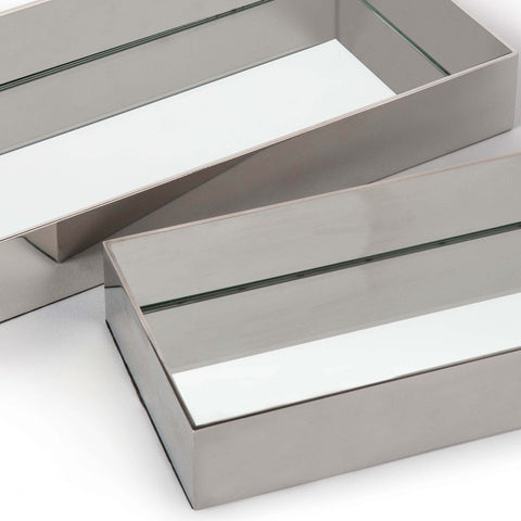 Rectangle Metal Tray Set in Various Colors design by Regina Andrew