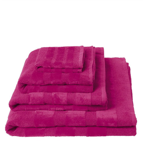 Coniston Fuchsia Towels design by Designers Guild