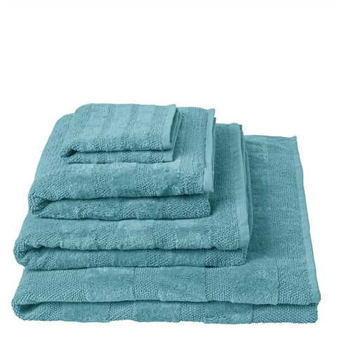 Coniston Turquoise Towels design by Designers Guild