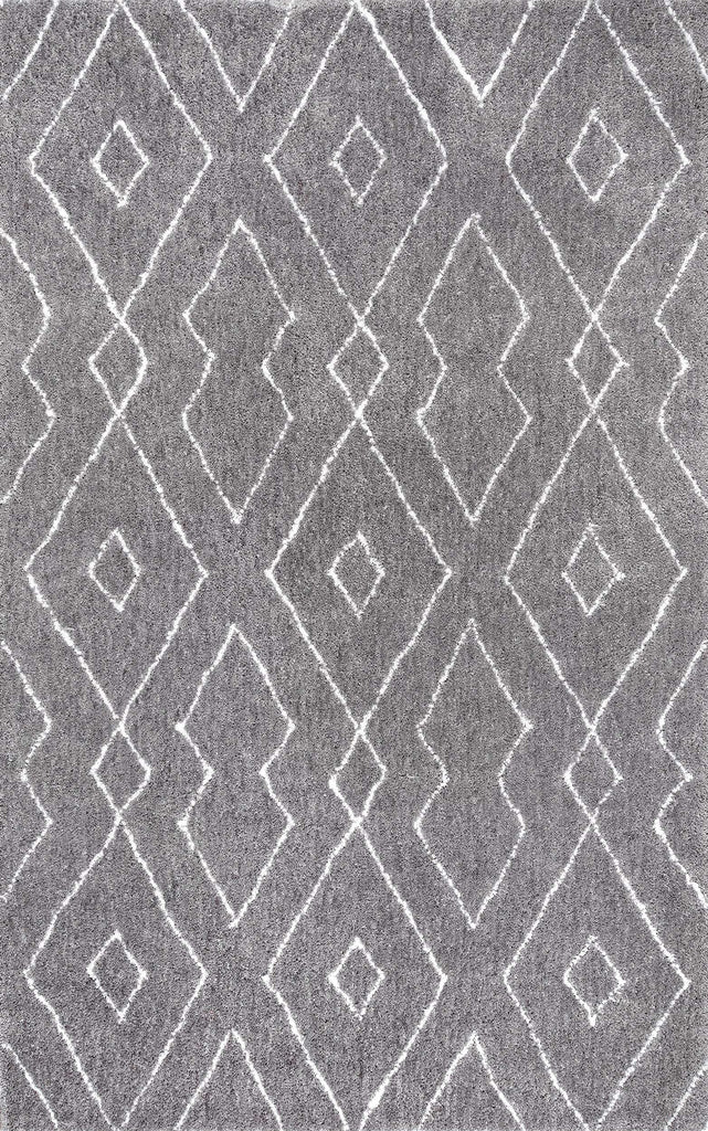 Hand Tufted Beaulah Shaggy Rug in Grey by NuLOOM