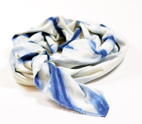 Hand Dyed Indigo Linear Scarf design by Riverside Tool & Dye