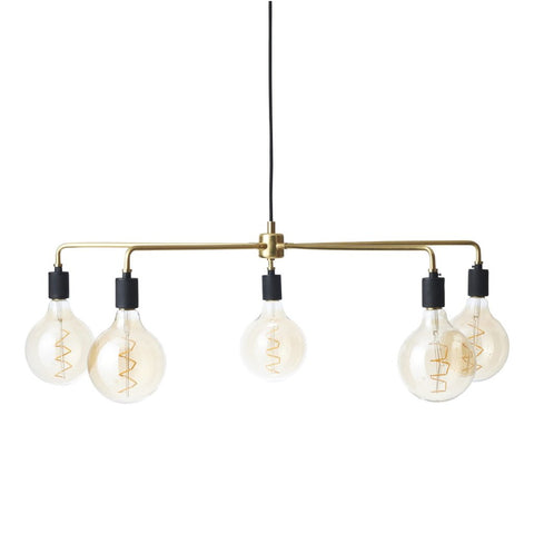 Tribeca Chambers Chandelier in Brass design by Menu