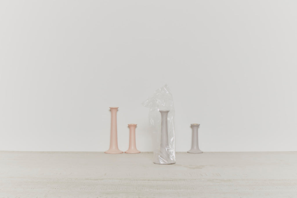 Simple Wood Candle Holder in Various Sizes & Colors by Hawkins New York
