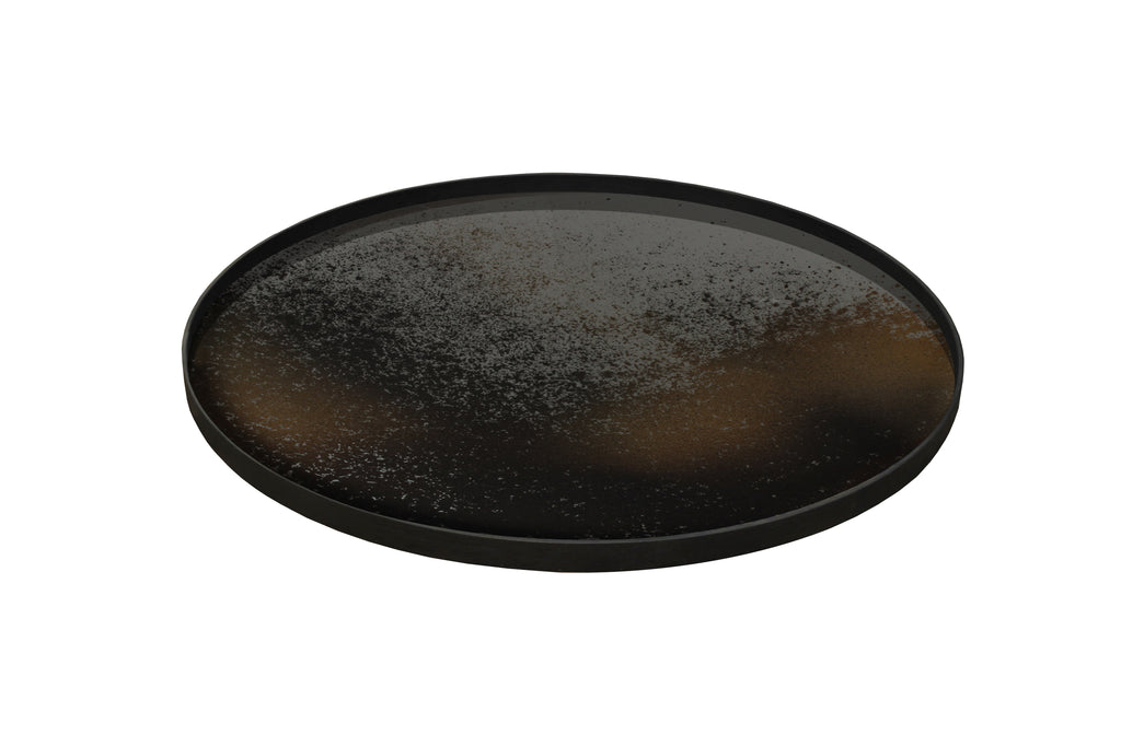 Bronze Round Mirror Tray - Extra Large