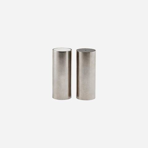 Tall Salt & Pepper, Brushed Silver