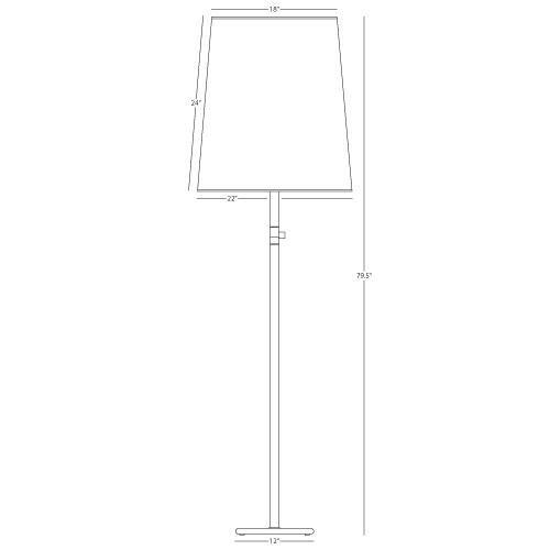 Buster Floor Lamp by Rico Espinet for Robert Abbey