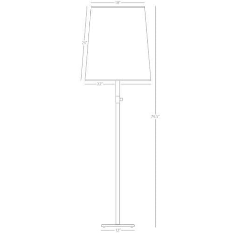 Rico Espinet Buster Floor Lamp design by Robert Abbey