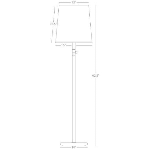 Rico Espinet Buster Chica Floor Lamp design by Robert Abbey