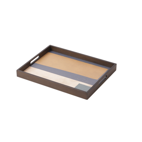 Geo Study Wooden Tray