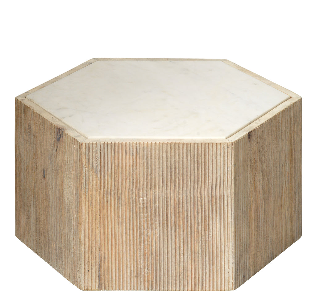 Small Argan Hexagon Table design by Jamie Young