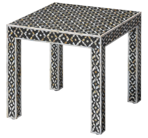 Evelyn Inlay Side Table design by Jamie Young