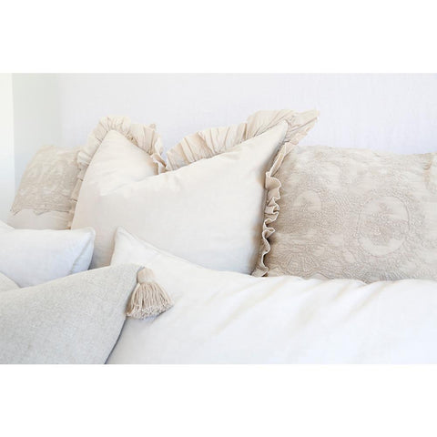 Grace Duvet Set in Taupe design by Pom Pom at Home