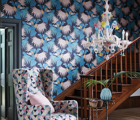 Vernazza Wallpaper in multi-color from the Manarola Collection by Osborne & Little