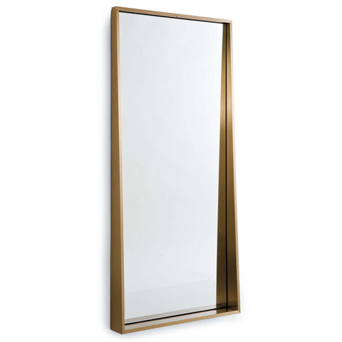 Gunner Mirror in Natural Brass design by Regina Andrew