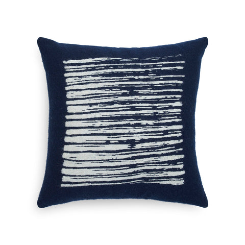 Navy Lines cushion Square