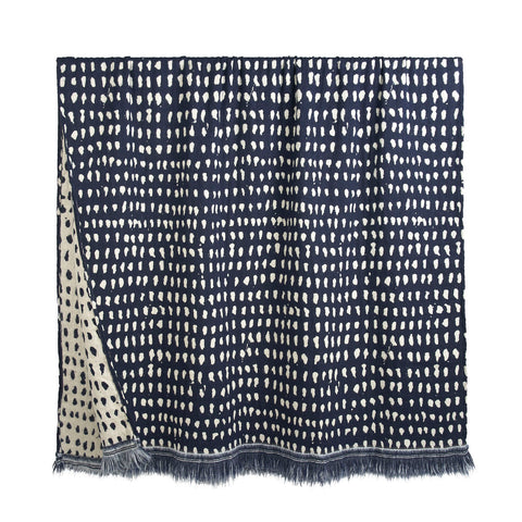 Navy Dots Throw