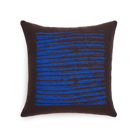Brown Lines Cushion Square