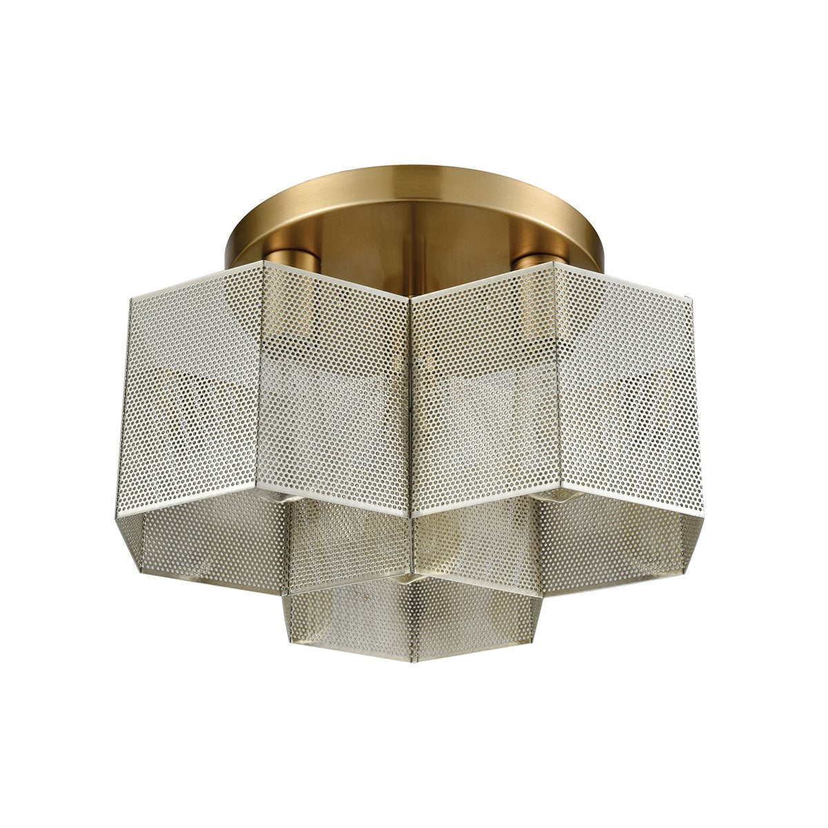 Compartir 3 Semi Flush in Polished Nickel & Satin Brass design by BD Fine Lighting